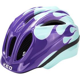 KED Meggy II Trend Helm Kinderen, flame lilac mint